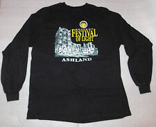 Holiday Festival of Light Ashland Oregon Black Long-Sleeve Shirt Winter Large