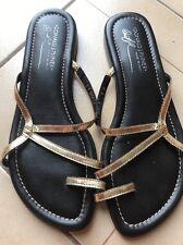 Donald J Pliner Geela Bronze Distress Metallic Sandals, Size 9