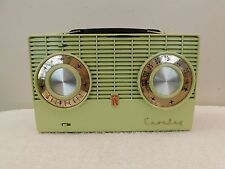 VINTAGE OLD 1950s NEAR MINT RARE CROSLEY ANTIQUE BLUE MID CENTURY RETRO RADIO