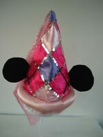 """DISNEY DISNEYLAND MINNIE MOUSE PINKS SEQUINED EARS HAT 12"""" SOFT TOY PLUSH"""