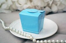 12 Light Blue Chinese Mini Take Out Boxes Wedding Birthday Baby Party Favor USA