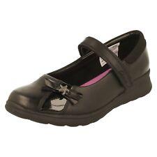 ae3ec7172be Girls Gloforms by Clarks School Shoes Mariel Wish Jnr UK 4 Black Leather G