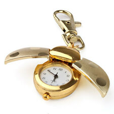Gold Quartz analogue Keychain Key Ring Watch Pendant Golden Ladybug Lady Bug