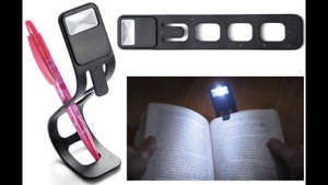 LED Flexible Reading Bookmark White Light Kindle Book Clip On Torch Lamp Stand