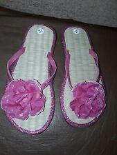 New Ladies/teen Pink Floral Flip Flop Size 4