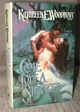 COME LOVE A STRANGER Kathleen E. Woodiwiss 1984 RARE AVON Romance HC/DJ BCE MINT