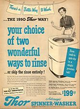 1950 vintage laundry appliance AD THOR Spinner-Washer 2 ways to rinse ! 072517