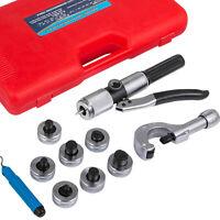 Hydraulic Tube Expander 7 Lever Tubing Flaring Swaging Kits HVAC Tool w/ Case