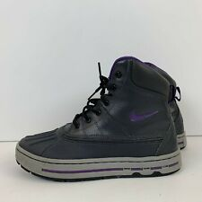 Nike ACG Woodside Big Kids Boots 2011 Anthracite Purple Grey 415077 002 Size 5Y