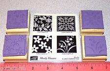 Stampin Up Mostly Flowers Stamp Set Daisy Pattern Leaves Design Long Stem Flower