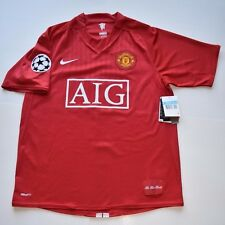 RONALDO MANCHESTER UNITED 2007-2008 CL WINNER, HOME JERSEY,SS,MEDIUM,BNWT