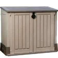 30 Cu Ft Resin Storage Shed All Weather Plastic Outdoor Patio Container Garden
