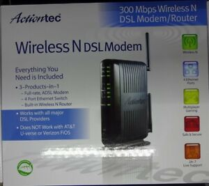 Actiontec GT784WN Wireless-N DSL Modem Router