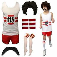 118 Fancy Dress Mens Womens Costume Marathon Retro Vest Short Do Stag Set ®