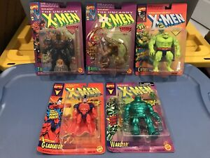 X-men Toy Biz Lot Of 5 Tusk Brood Ch'od Warstar Gladiator Marvel