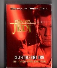Star Wars Young Jedi CCG TCG Menace Of Darth Maul Starter Deck For Card Game
