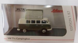 Schuco 452660400 Échelle H0 1:87 VW T1c Camping-Car Vert/Blanc # Neuf Dans Ovp #
