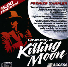 Under a Killing Moon Interactive Movie 1994 MS DOS PC Game Demo Disk Rare!