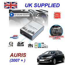 For Toyota AURIS MP3 SD USB CD AUX Input Audio Adapter CD Changer Module 6+6