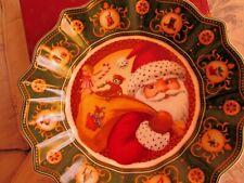 Villeroy & Boch $50 Toy's Fantasy Santa's Gifts Christmas Collector Bowl Nib