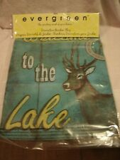 13x18 Double Sided Welcome to the Lake Garden Flag