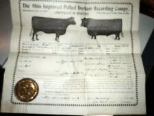 #7252,Ohio Polled Durham Recording Co.Capt Jet Registration,Mansfield,1892