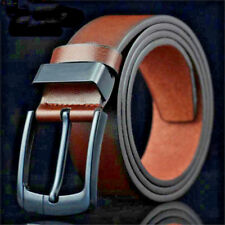 PU Leather Belts Men Faux Fashion Leisure Business Casual Buckle Save Animals