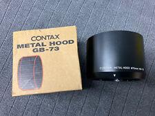 Contax 645 Metal Hood GB-73 f/ Sonnar 140mm 120mm Makro f/2.8 Lenses MINT IN BOX