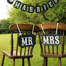 2X Mr and Mrs Photo Picture Booth Chair Signs Weddings Photograhs Props RDKJ