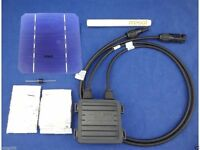 40 pcs MONO 5x5 solar cells DIY kit for solar panel, flux pen, diode bus tabbing