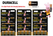 Duracell Simply AA ,9 x 8pk {72 Batteries} Great Value Range from Duracell.