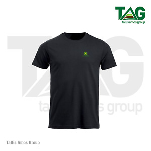 Genuine John Deere Black T-shirt with logo on front and back - MCS3550000