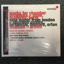 3cd box avantgarde wer 6931 2 earle brown contemporary sound series vol.2 sealed