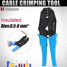 Cable Ratchet Crimper Insulated Terminal Wire Ferrule Plier Crimping Tool