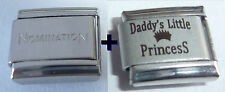 DADDY'S LITTLE PRINCESS 9mm Italian Charm + 1x Nomination Classic Link I Love My