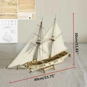 1:100 Victory Wooden Sailing Boat Model DIY Kit Ship Assembly Decoration Gift