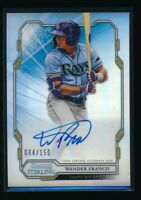 WANDER FRANCO AUTO 2019 Bowman Sterling Autograph REFRACTOR #/150 Rookie Card RC