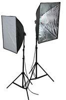 2 x Softbox Video Photography Light DSLR Camera Video Photo Lighting Kit