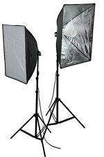2 x Softbox Video Photography Light DSLR Camera Video Photo Lighting Kit
