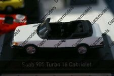 Norev Saab 900 Turbo 16 Cabriolet 1992 White 1:43 Diecast 810043