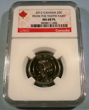 2012 CANADA NGC MS68PL 25c TOOTH FAIRY PROOF LIKE QUARTER MS 68 PL