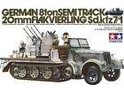 TAMIYA KIT 1:35 GERMAN 8TON SEMITRACK 20MM FLAKVIERLING SD.KFZ7/1 ART 35050
