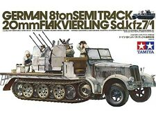 TAMIYA KIT 1:35 GERMAN 8TON SEMITRACK 20MM FLAKVIERLING SD.KFZ7/1 ART 35050