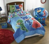 PJ Masks Sheet Set Kids Bedding 3-Piece Twin Size Toddlers Room New