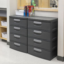 Sterilite 4 Drawer Unit Flat Gray Home Bedroom Clothes Storage Organizer New