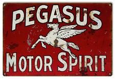 Pegasus Motor Oil Reproduction Garage Shop Metal Sign - 18 in x 30 In RVG197
