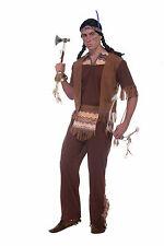 Men's Native American Brave Costume Western Indian Adult Standard Size