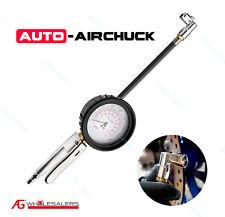 """Auto Airchuck Tyre Inflator Deflator 3.5"""" Gauge  90° Angle 160Psi Tire Air Chuck"""