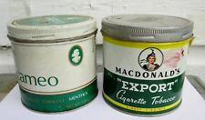 2 Vintage EXPORT AND CAMEO TOBACCO TIN Can CANADA