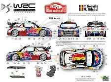 Ffsmc Productions Decals 1/18 Citroën Ds3 WRC Neuville Monte-carlo 2012